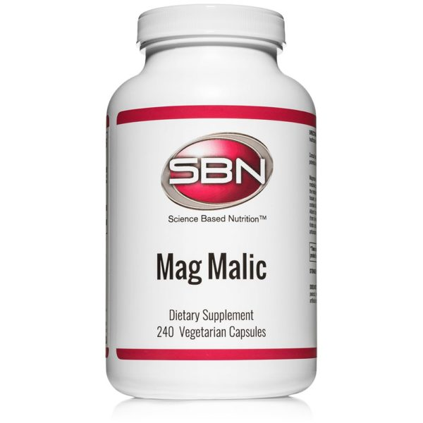 240 Vegetarian Capsules of MagMalic Magnesium Supplement by Science Based Nutrition
