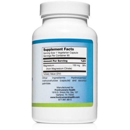 Magnesium Citrate Frontrunners Health Solutions
