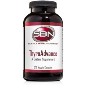 270 Veggie Capsules of ThyroAdvance Dietary Supplement by Science Based Nutrition