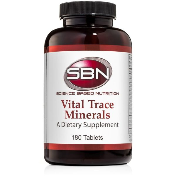 180 Tablets of Vital Trace Minerals Dietary Supplement by Science Based Nutrition